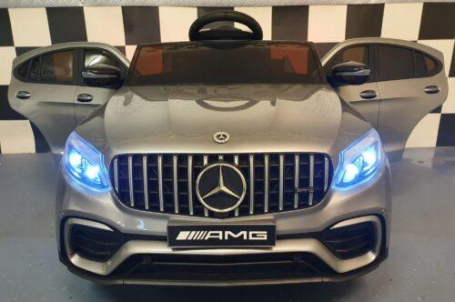 Elektrische kinderauto Mercedes AMG zilver