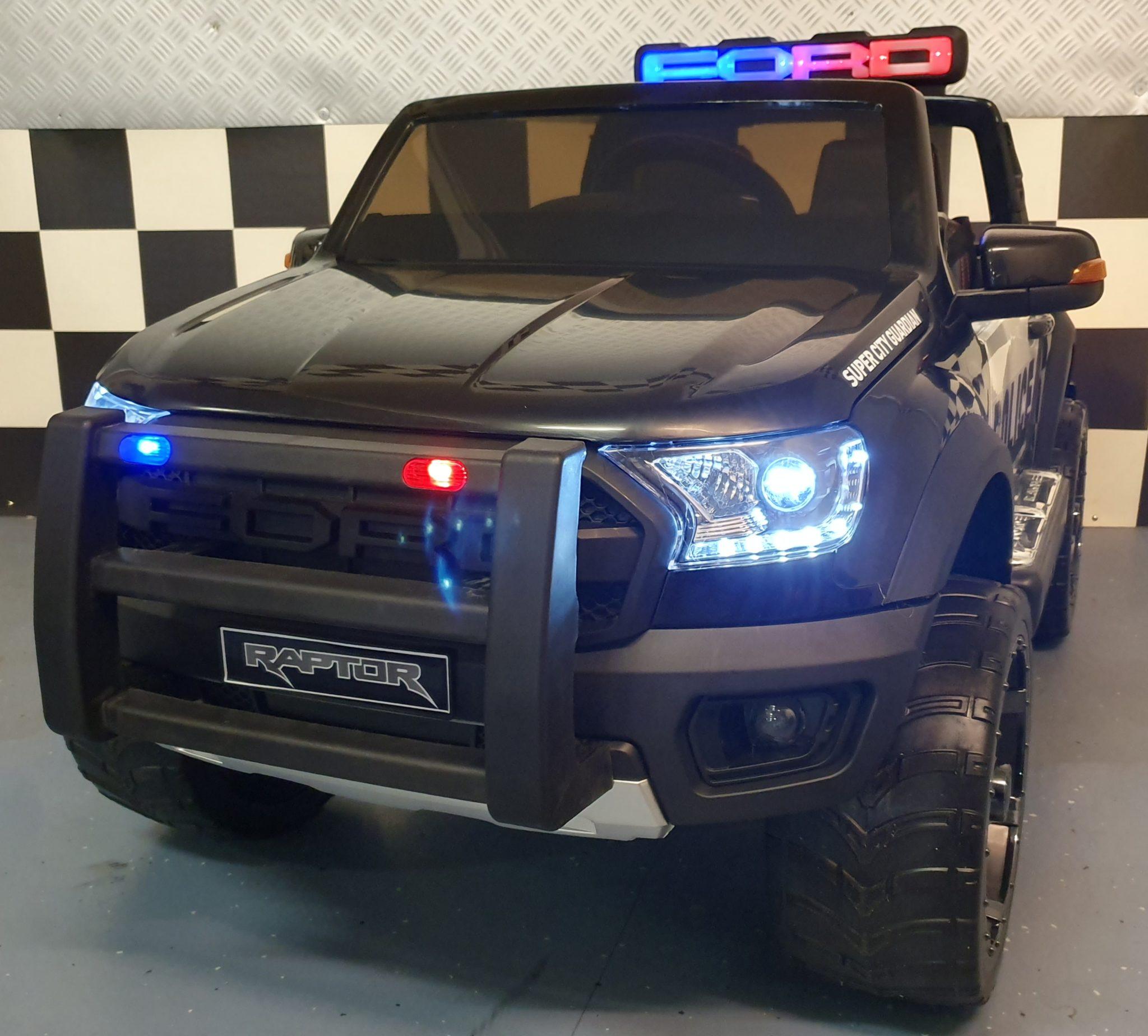 Elektrische kinderauto Ford Raptor politie 12 volt
