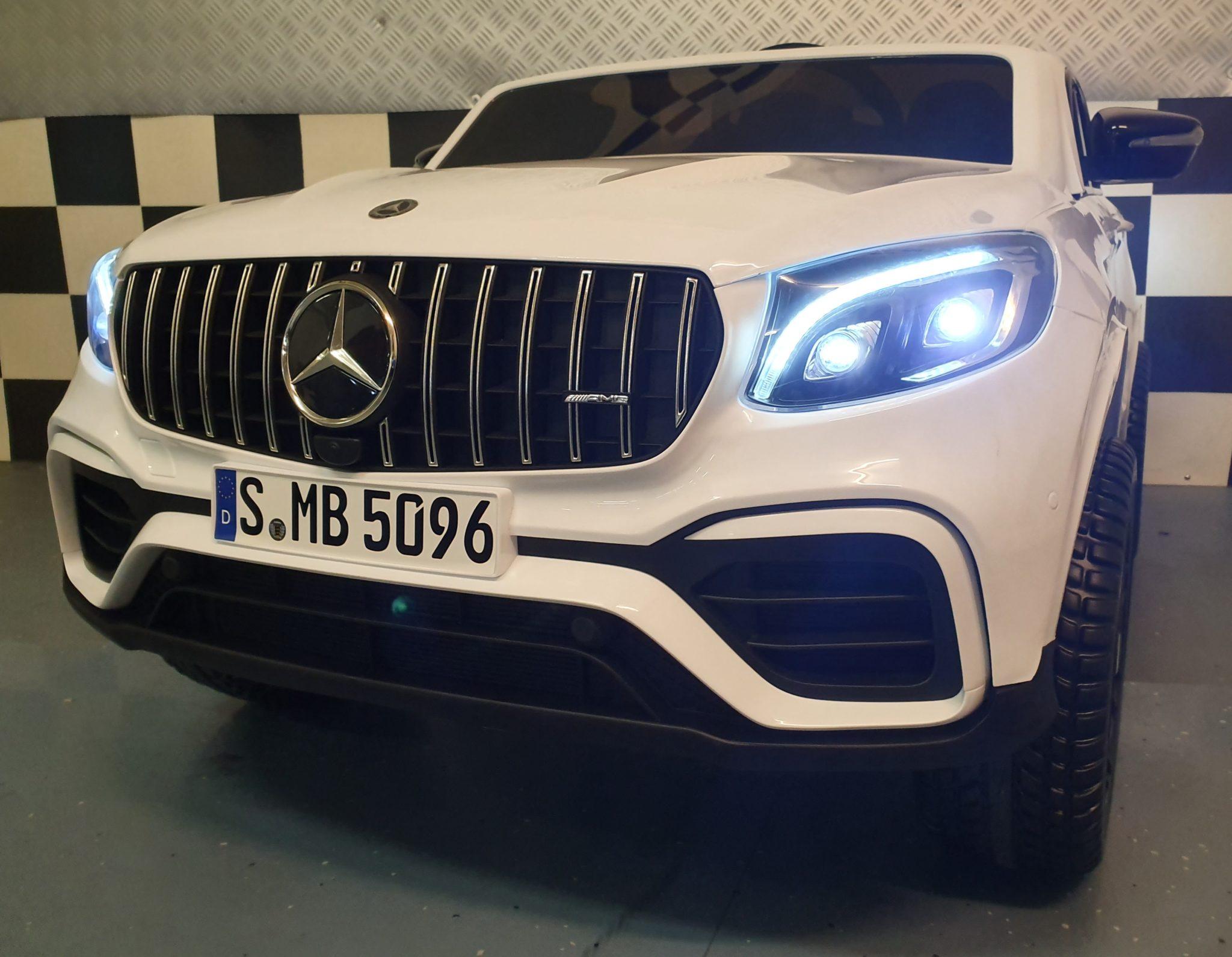 Mercedes Benz elektrische kinderauto GLC 2 persoons 4WD 2x12V 2.4G RC wit