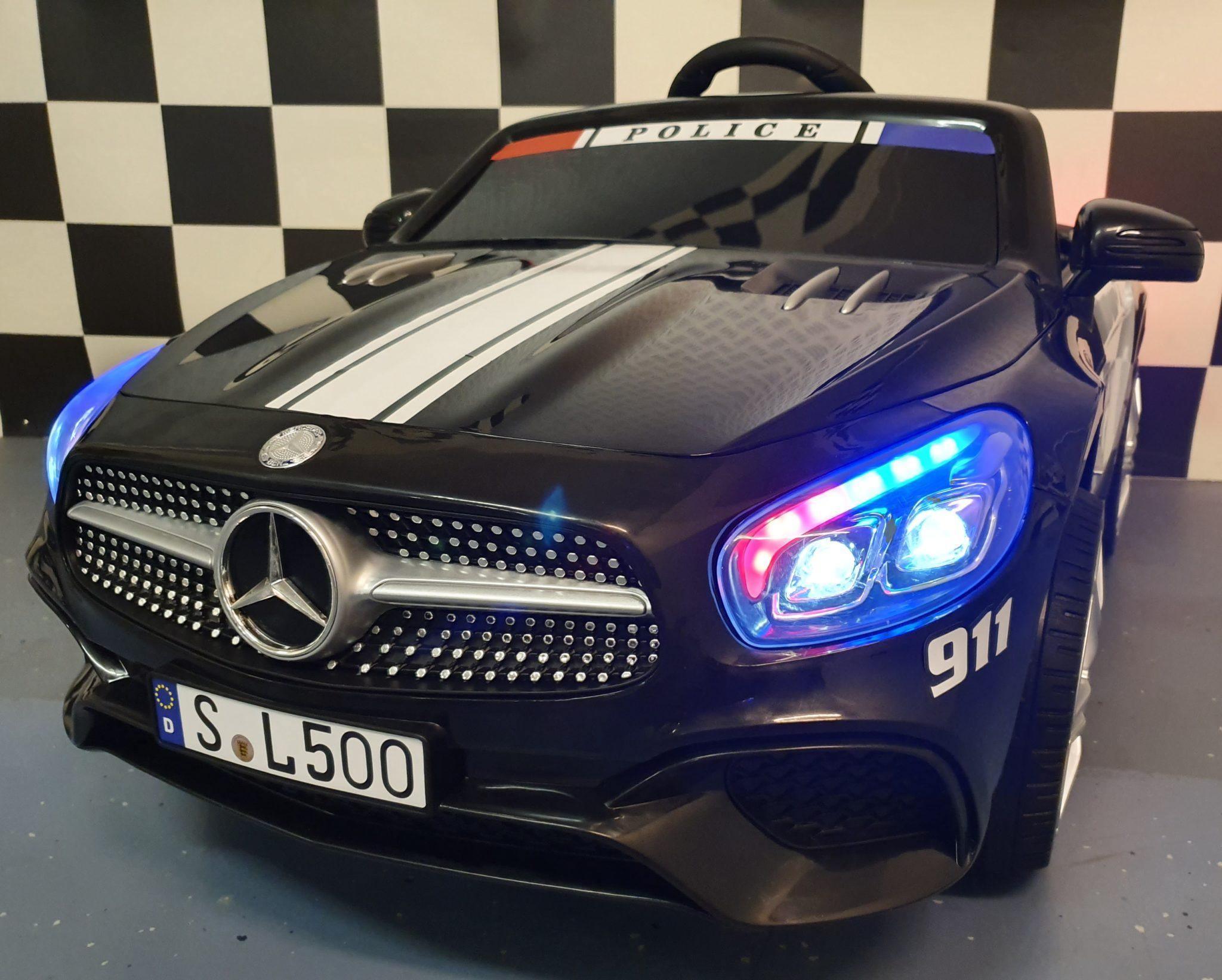 Elektrische speelgoedauto politie Mercedes SL 500 12 volt 2.4G RC