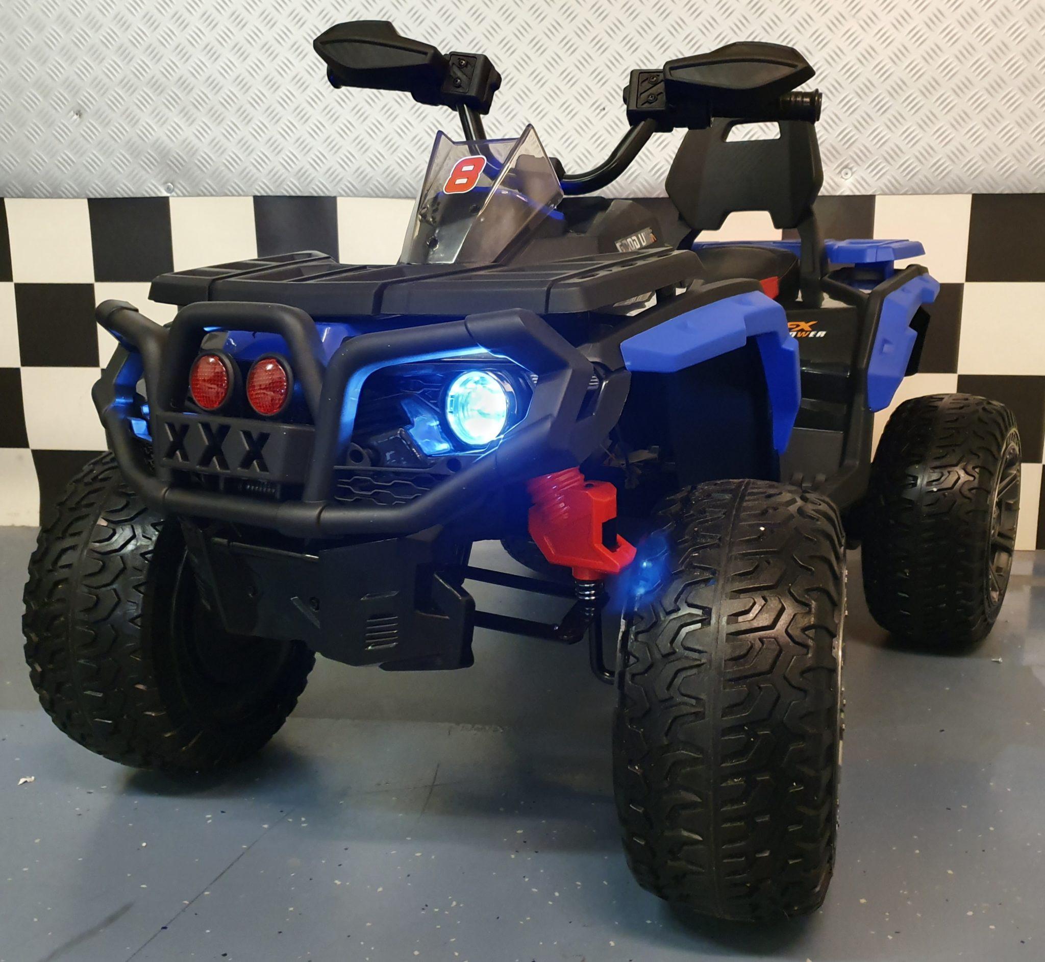 Elektrische accu quad Bigfoot 12 volt met rubberen banden