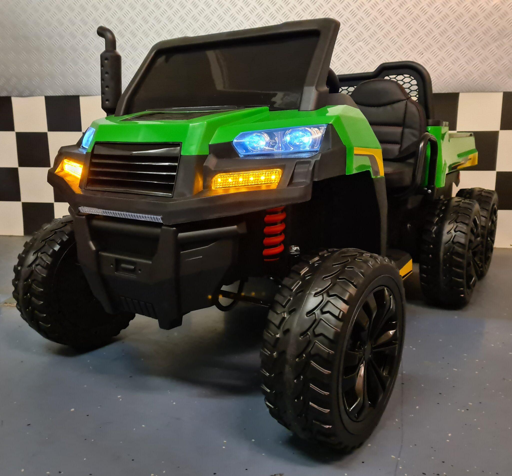 Gator kinderjeep Farmer Truck 6×6 voor 2 kinderen 12volt, 4WD met RC