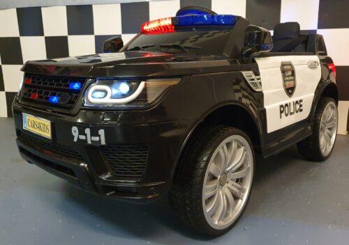 politie kinderjeep met zwaailichten