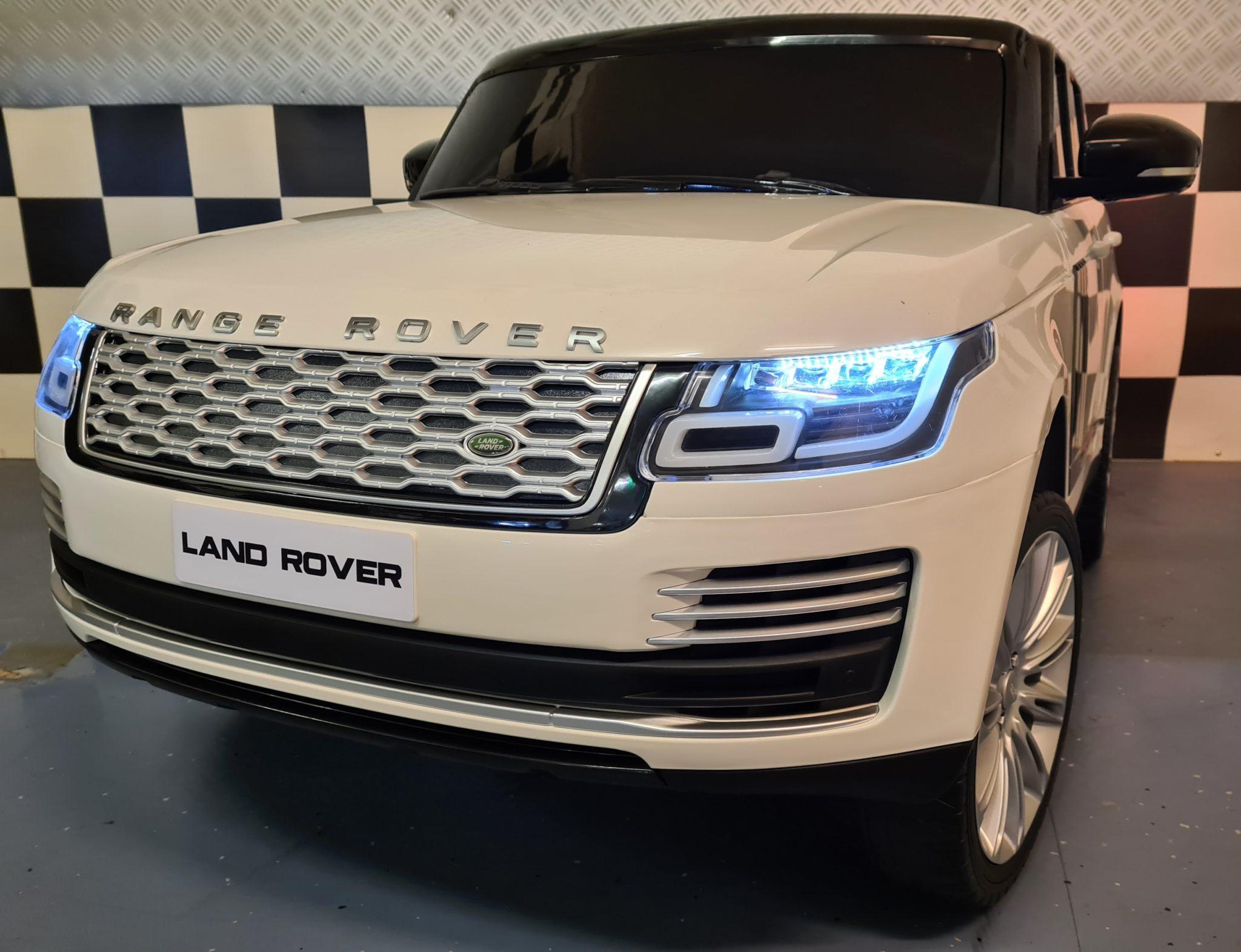 Accu Kinderauto Range Rover HSE Sport 2 persoons 12V 4 motoren en MP4 Wit