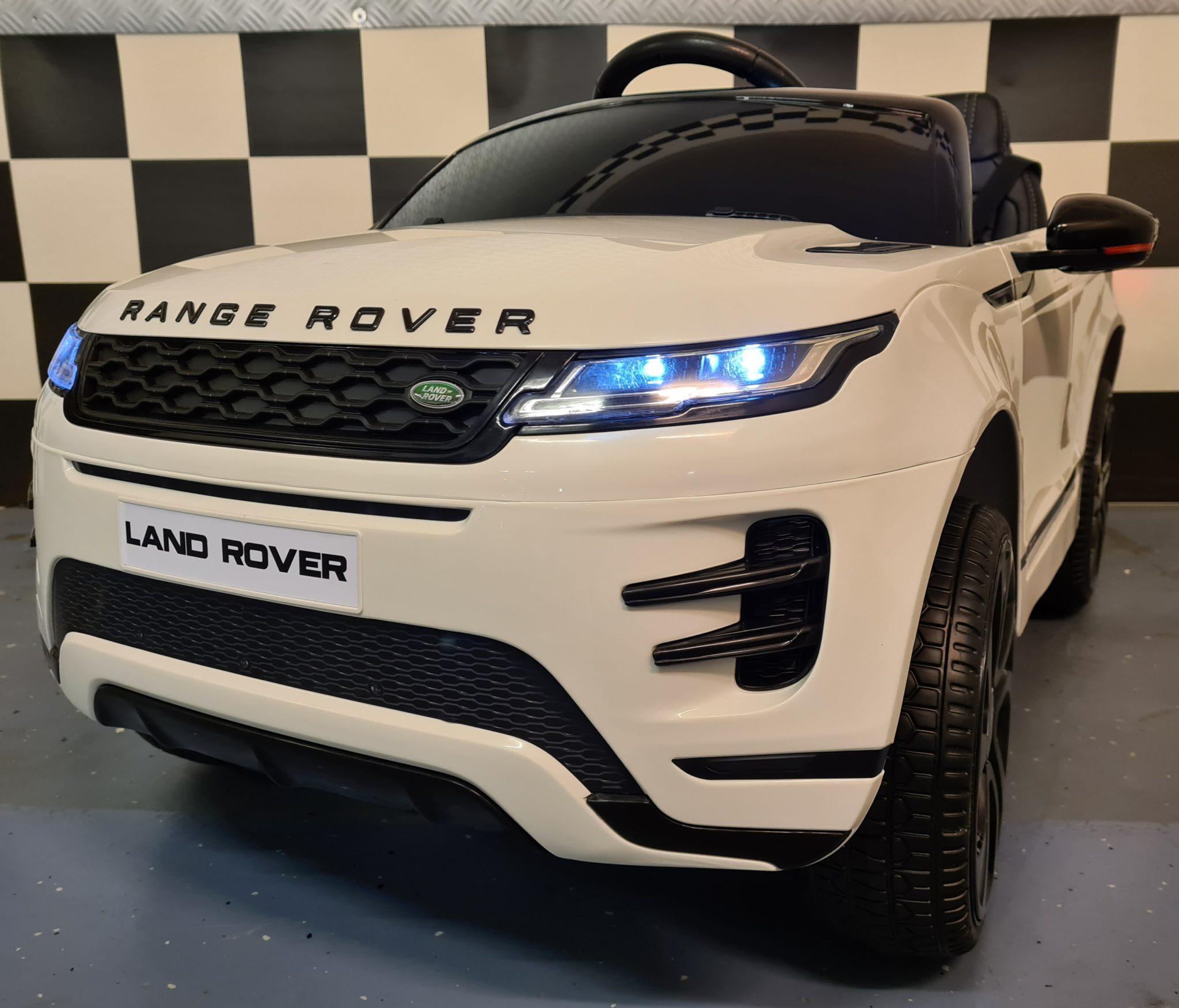 Kinderauto Range Rover Evoque elektrische kinderauto 4×4 met MP4 12Volt accu 2.4G RC wit