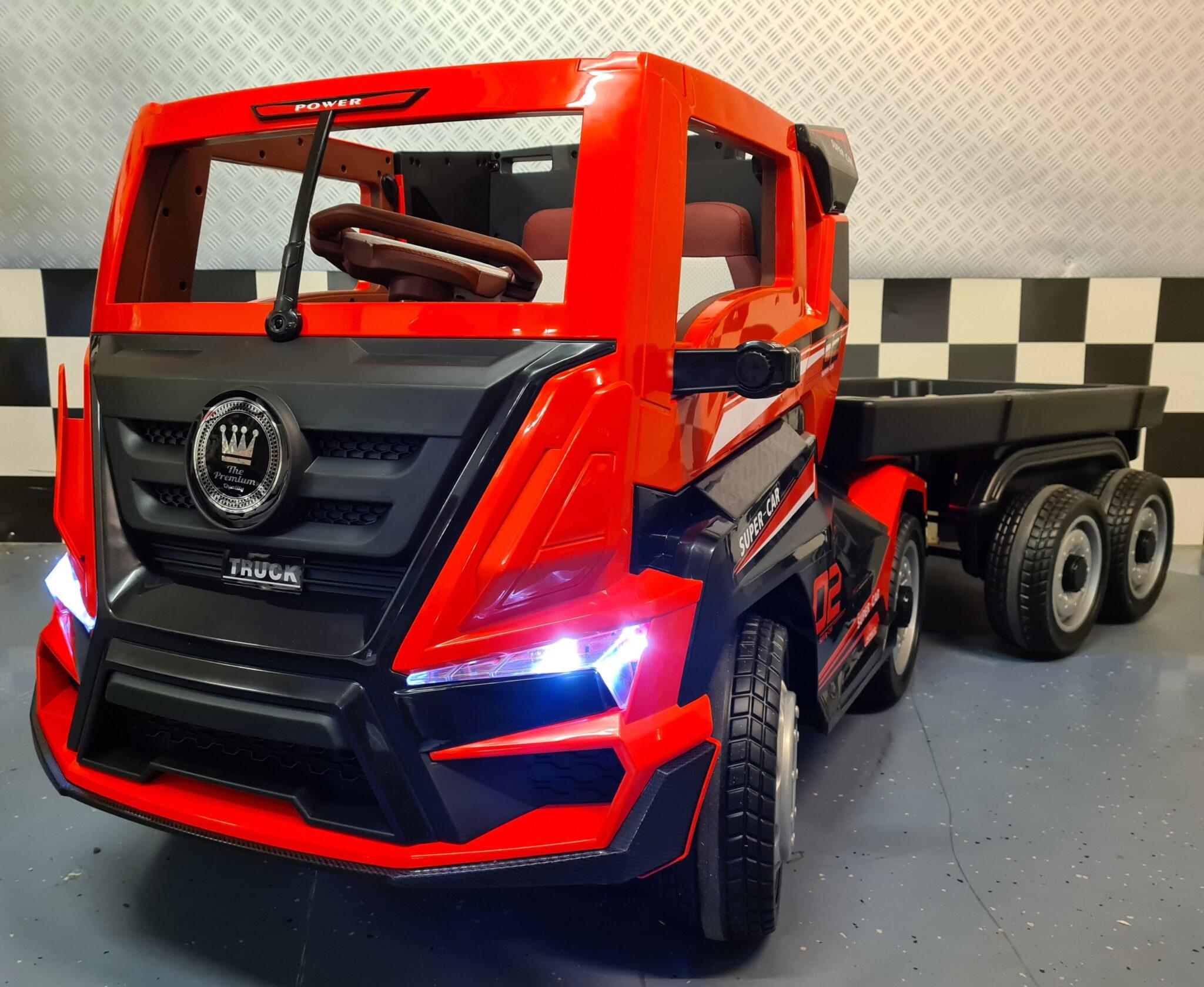 Elektrische kindervrachtwagen met trailer 12volt met RC