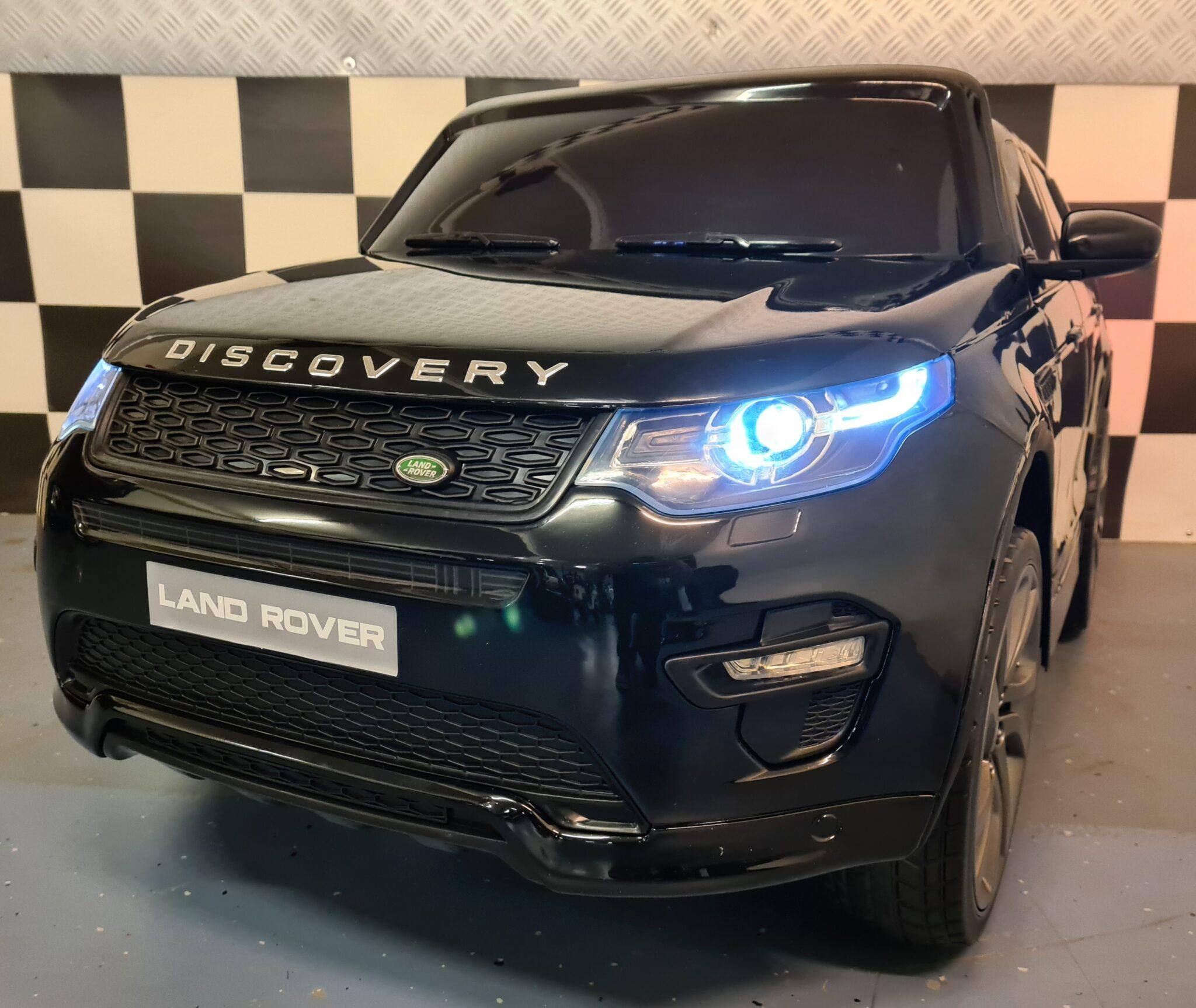 Accu kinderauto Land Rover Discovery met MP4 12Volt accu 2.4G RC metallic zwart
