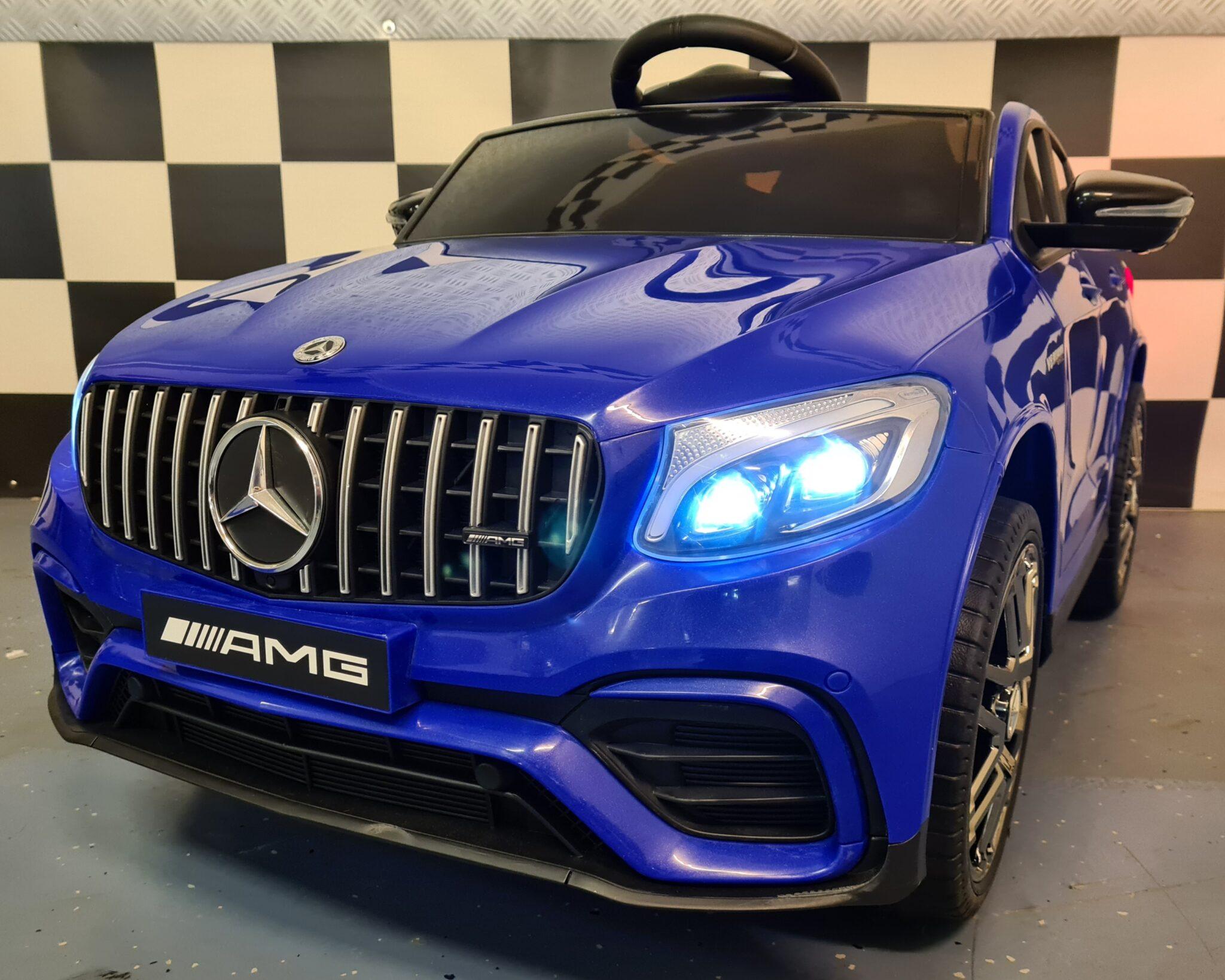 Accu kinderauto Mercedes AMG GLC 2.4G RC 12 Volt blauw