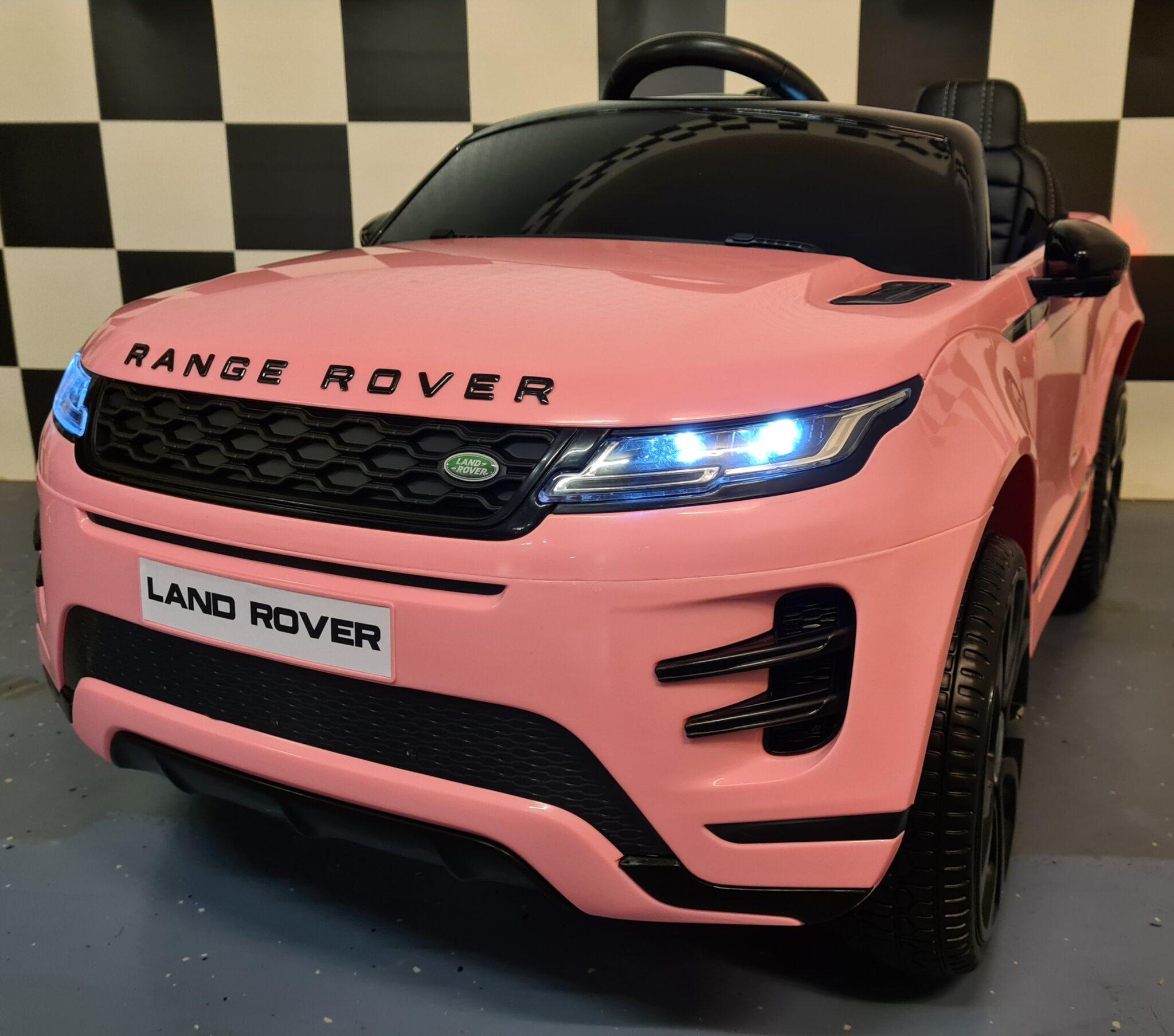 Kinderauto Range Rover Evoque roze 4×4 met MP4 12Volt