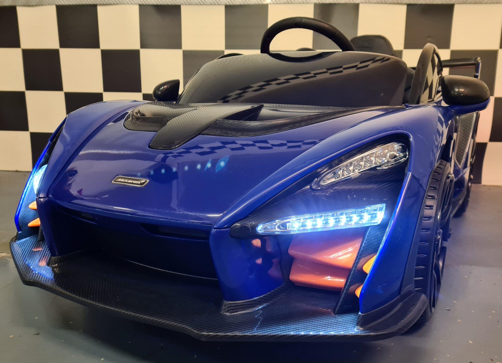 Elektrische kinderauto McLaren Senna 12Volt met afstandsbediening blauw