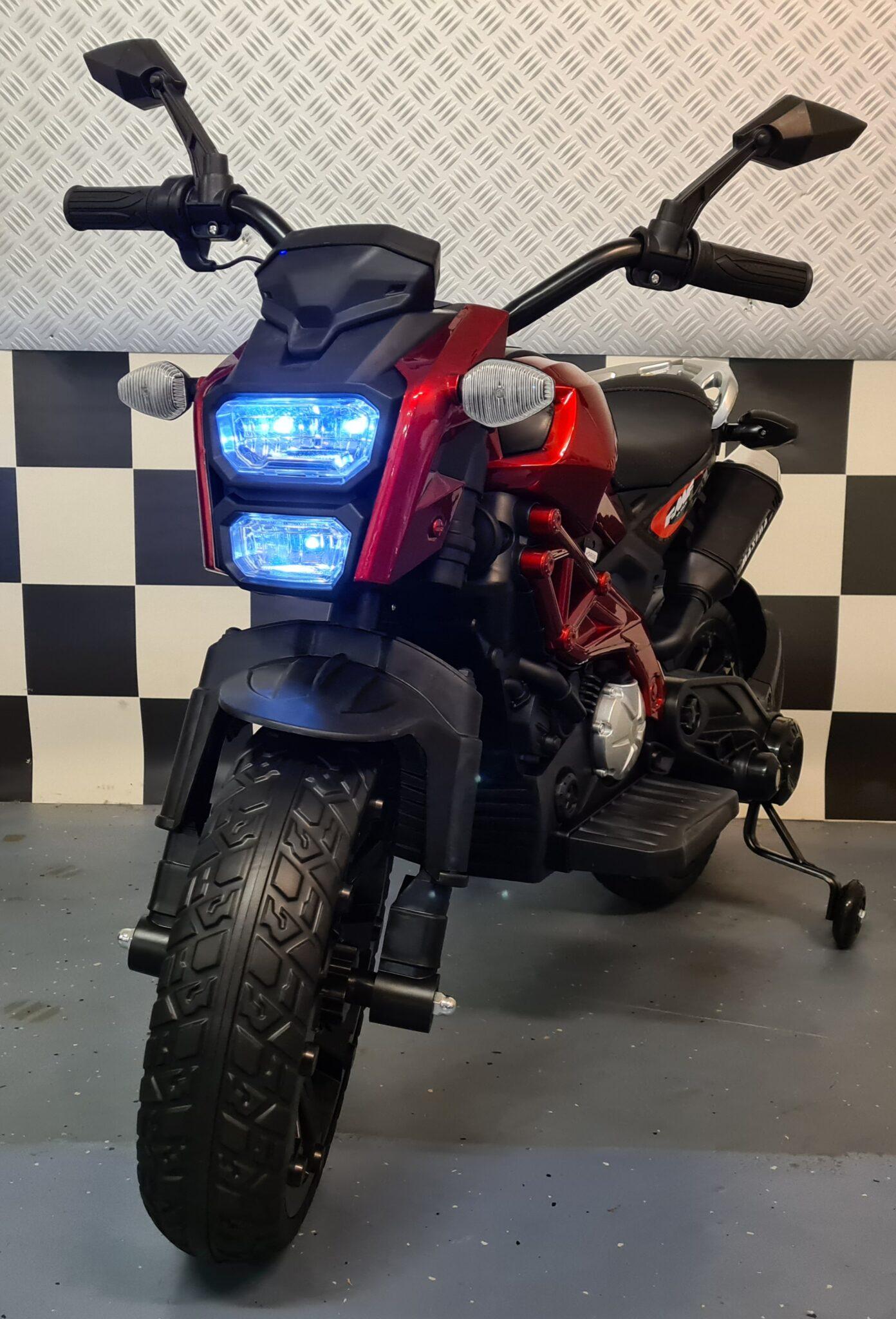 Accu kindermotor Grom Superbike 12 volt metallic rood