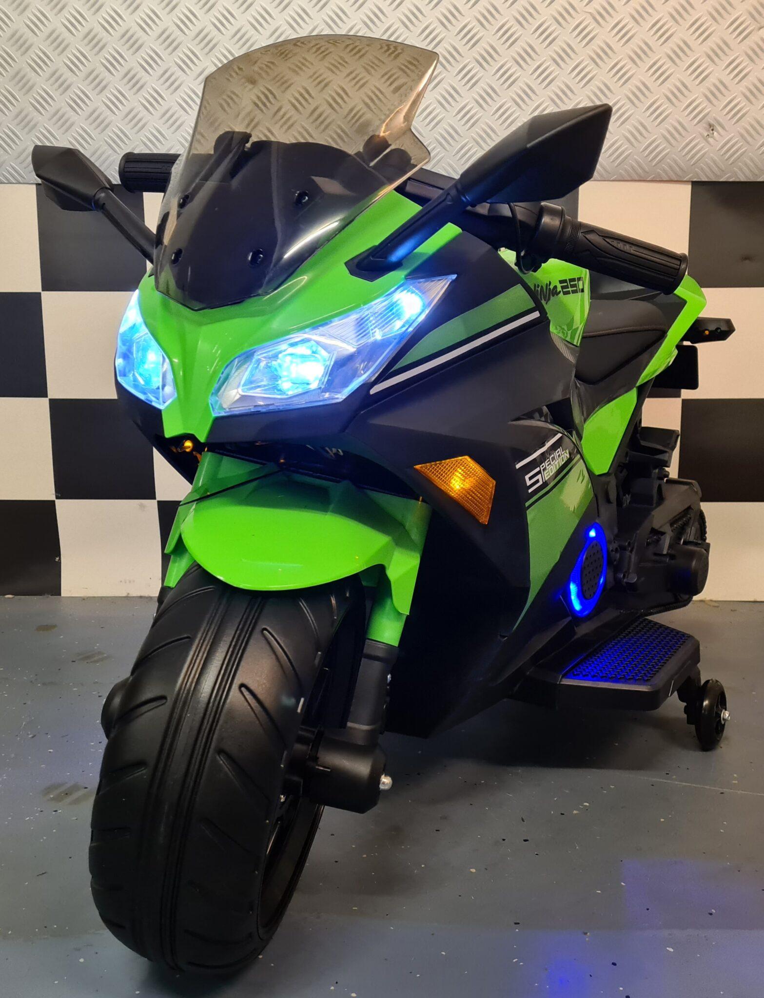 Accu kindermotor Ninja 12 volt groen