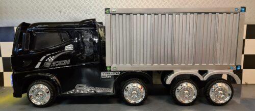 Elektrische kinder vrachtwagen zwart