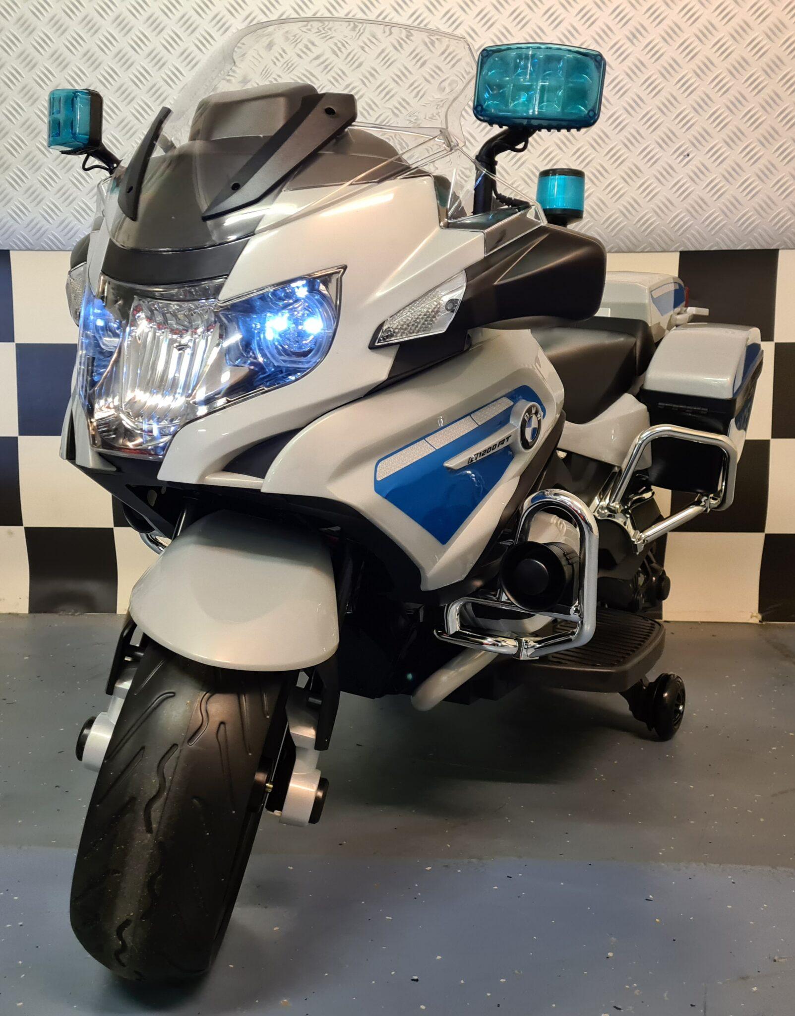 Kindermotor politie BMW R1200 met zijwielen