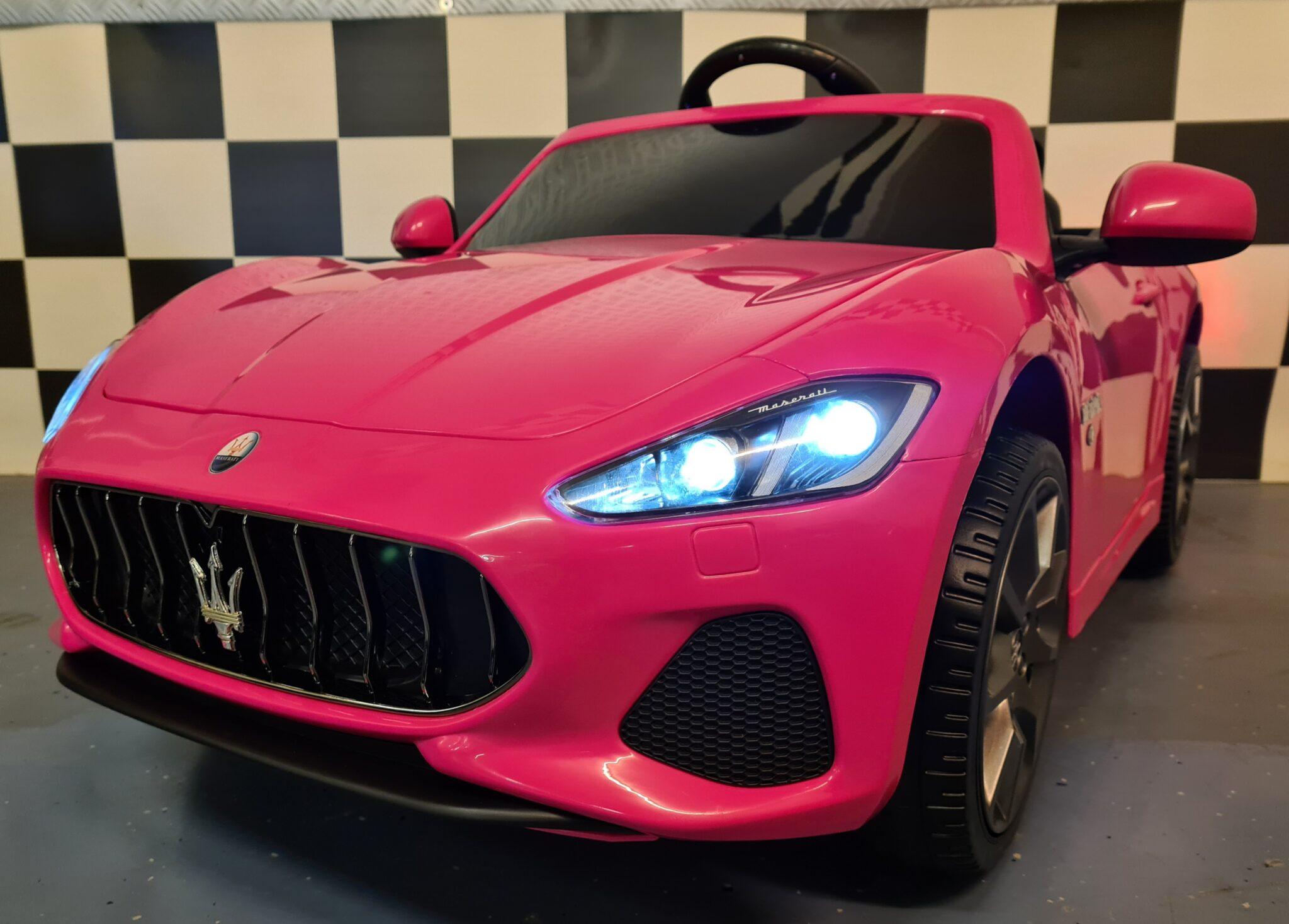 Maserati kinderauto roze 12 volt en RC