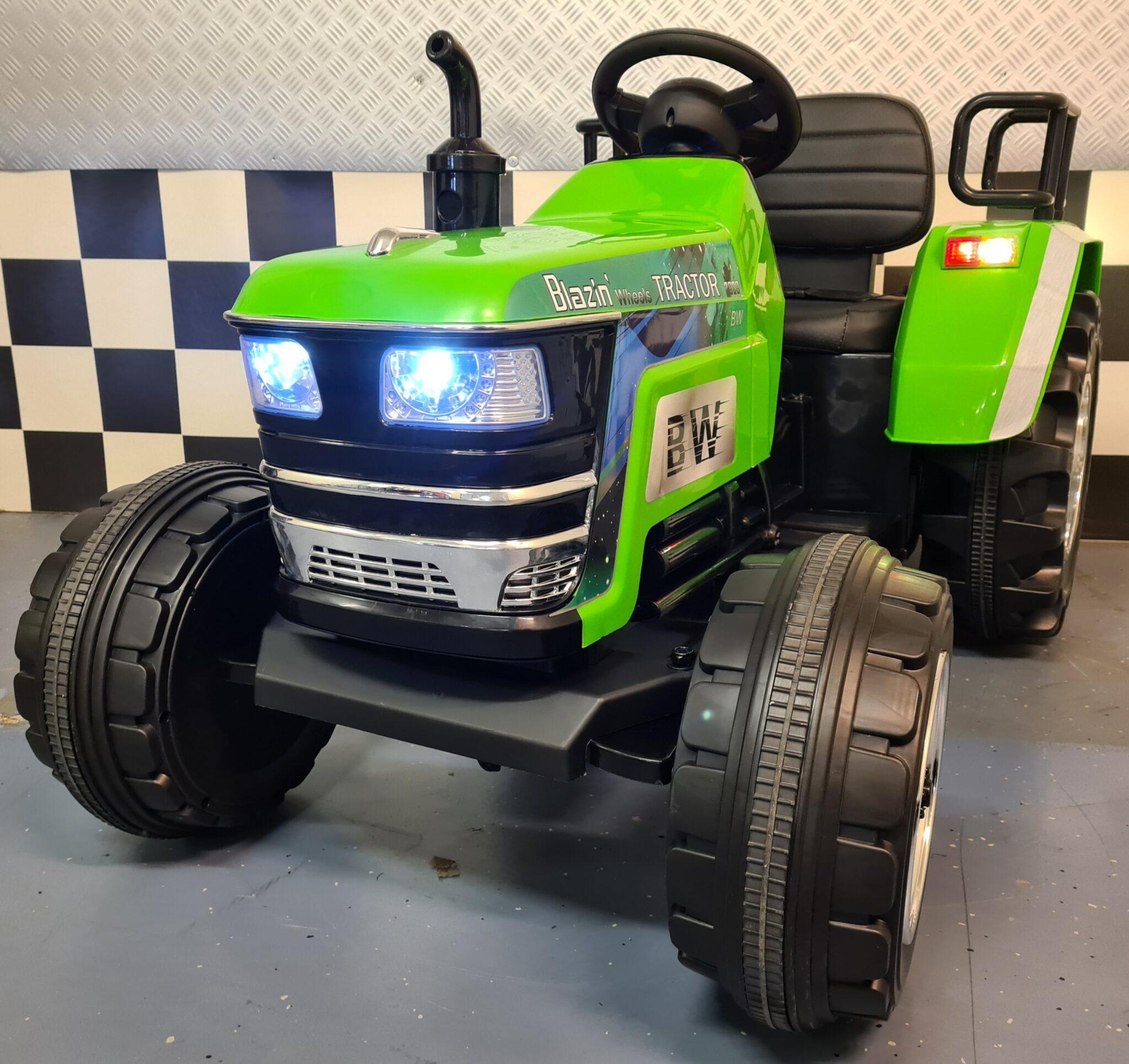 Kindertractor XXL 12 volt met 2.4G afstandsbediening groen