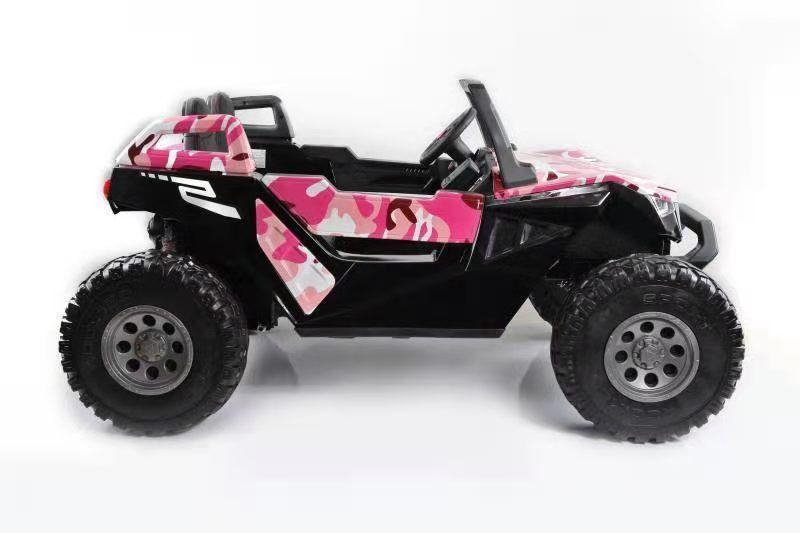 24 volt kinder jeep 2 persoons met afstandsbediening camo roze