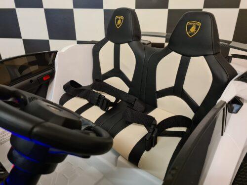 Lamborghini 2 persoons elektrische kinderauto wit