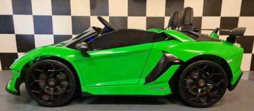 kinderauto Lamborghini Aventador metallic groen