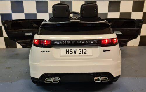 Elektrische auto kind Range Rover Velar wit