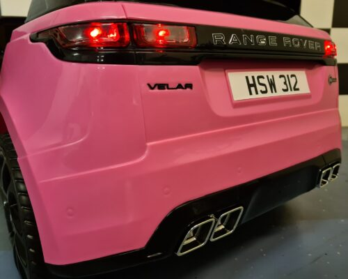 Range Rover Velar roze kinderauto