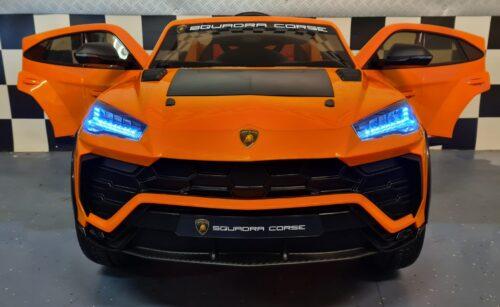 Elektrische kinderauto Lamborghini Urus oranje