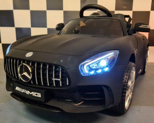 Mercedes GTR accu kinderauto mat zwart