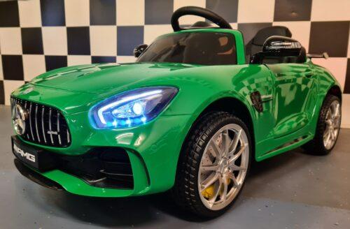 accu kinderauto Mercedes GTR metallic groen