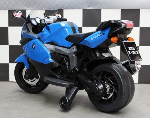 Blauwe accu speelgoedmotor BMW K1300 blauw 12v