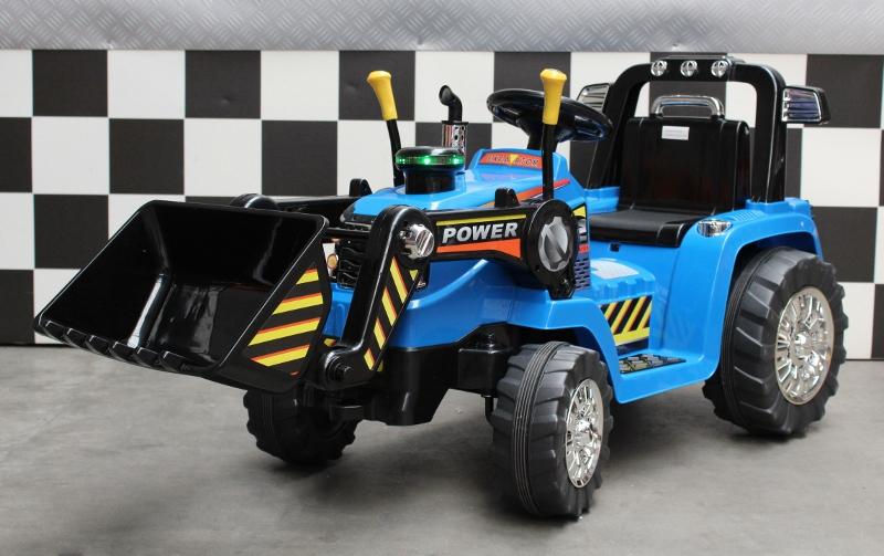 Kinder tractor 12 volt accu met 2.4G afstandbediening blauw