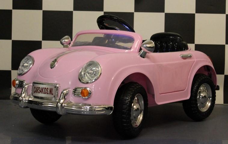 Mini Speedster accu speelgoed auto 12V 2.4G RC Roze