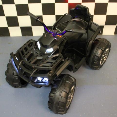 Speelgoedgoed kinderquad 12 volt accu zwart