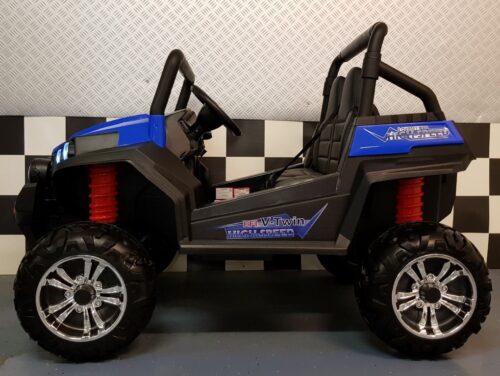 V Twin blauw kinderjeep elektrische 2x12 volt accu