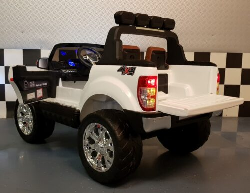 4WD Ford Ranger kinderauto wit met 2.4G RC bediening