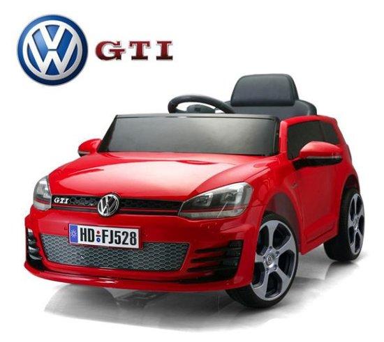 VW golf GTI elektrische kinderauto 12 volt  soft start Rood