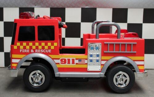 Fire truck elektrische brandweer kinderauto 12v