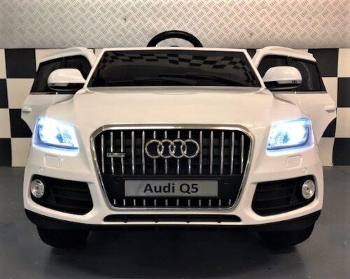 Witte Audi Q5 Quattro accu auto 2.4G 12 volt