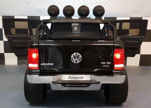 Kinderauto Amarok metallic zwart 2x12 volt 4WD