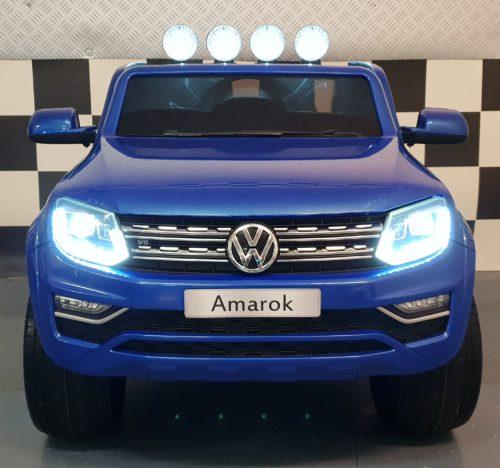 Amarok kinderauto 2x12V 2.4G RC 4WD metallic blauw