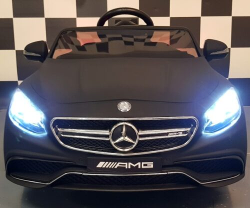 Kinderauto Mercedes S63 12 volt 2.4G afstandbediening mat zwart