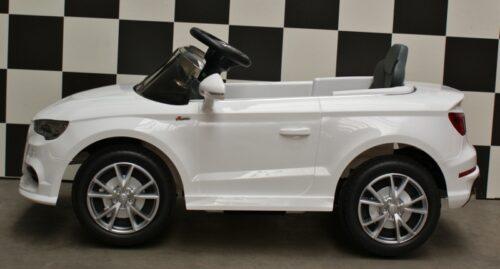 Audi A3 witte kinderauto 12 volt 2.4G afstandbediening