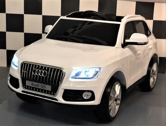 Elektrische Kinderauto Audi Q5 Quattro wit 2.4G RC 12 volt