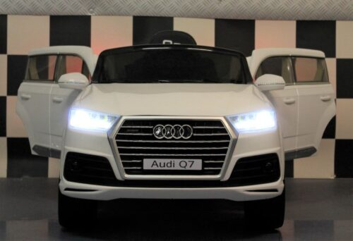 Audi Q7 elektrische kinderauto 12V wit