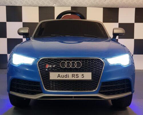Kinderauto Audi RS5 blauw 12 volt 2.4G afstandbediening