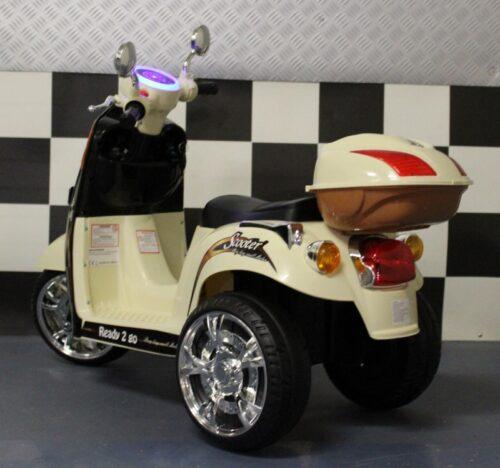zwarte retro kinderscooter 6volt
