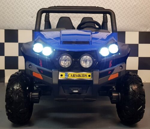 2x12V kinderjeep blauw 2.4G RC V Twin