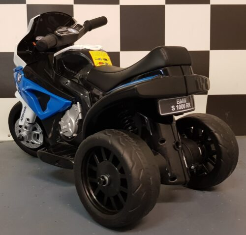 Blauwe BMW mini kindermotor 6 volt accu
