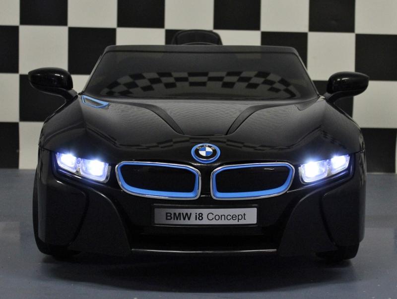 kinder accu auto bmw i8 zwart met 2 4g afstandbediening en. Black Bedroom Furniture Sets. Home Design Ideas