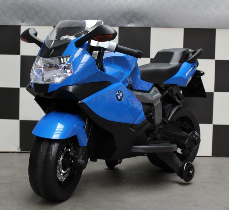 BMW K1300S elektrische kinder accu motor blauw met soft start