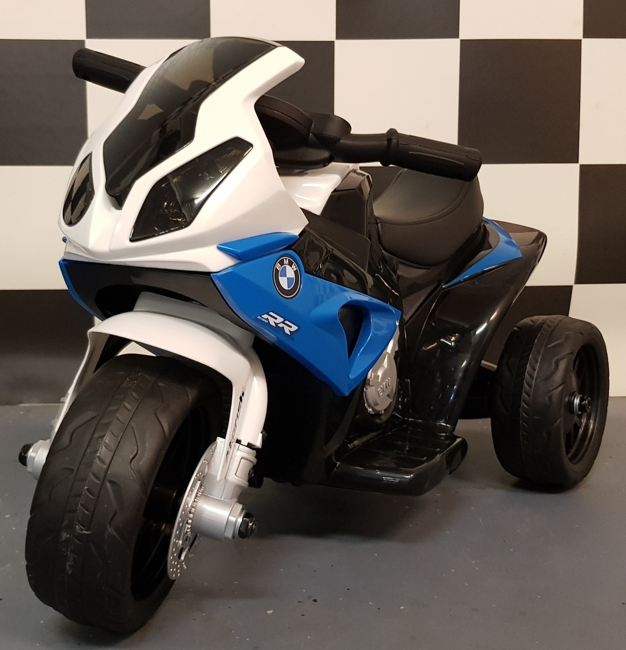 Mini BMW S1000RR elektrische kindermotor blauw 6V